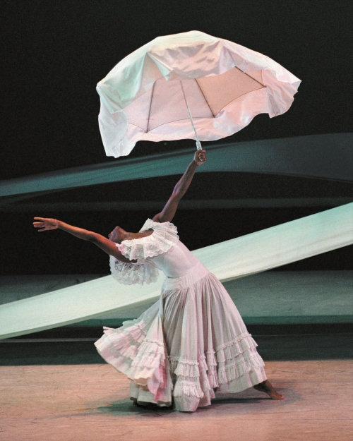 Renee Robinson in Alvin Ailey's Revelations.  Photo by Paul Kolnik.