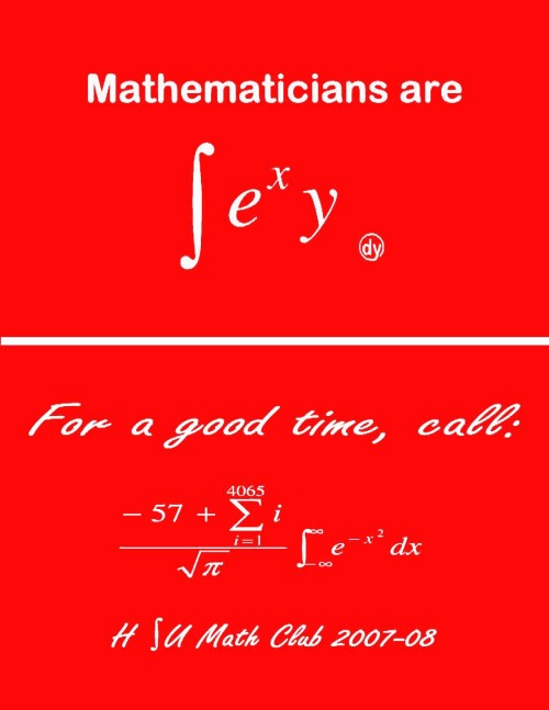 Laffs courtesy Humboldt State University Math Club.