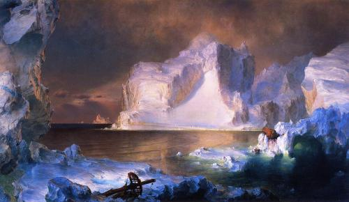 Frederic Edwin Church (American, 1826–1900) The Icebergs, 1861. From the collection of the Dallas Museum of Art.