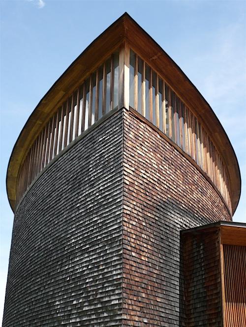 St. Benedict Chapel, Peter Zumthor, Sumvitg, Switzerland.
