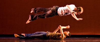 Andre Kasten and Ghrai Harrison of DanceWorks Chicago.