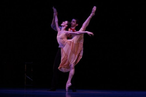 Matthew Adamczyk and Victoria Jaiani in Carousel a Dance. Photo by Herbert Migdoll.