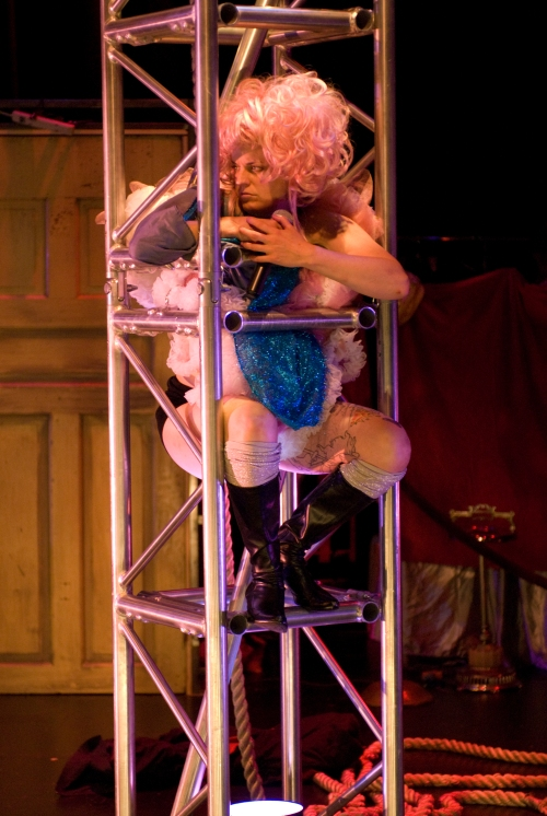 Molly Brennan as Madame Barker. Photo by Michael Brosilow.