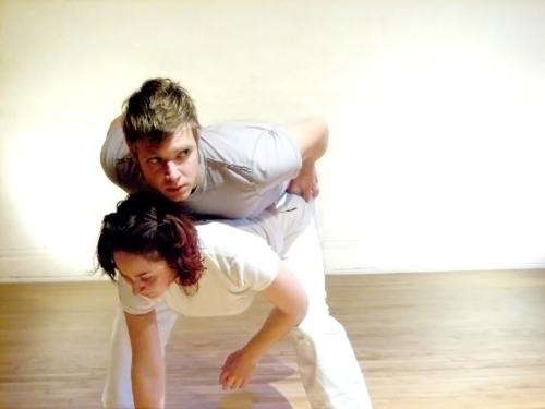 Rachel Damon and Dan Mohr in Stridulate. Photo by Tim Ballard.