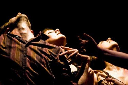 Molly Shanahan/Mad Shak dancers Benjamin Law, Kristina Fluty and Jessica Marasa.