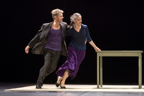 "Mikhail Baryshnikov and Ana Laguna in ""Place."" Photo by Bengt Wanselius."