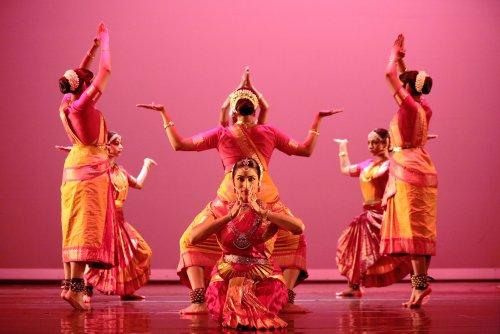 "Natya Dance Theatre in ""Shakti Chakra."" Photo by Amitava Sarkar."