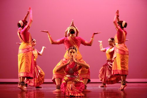 "Natya Dance Theatre in ""Shakti Chakra."" Photo by Amitava Sarkar."