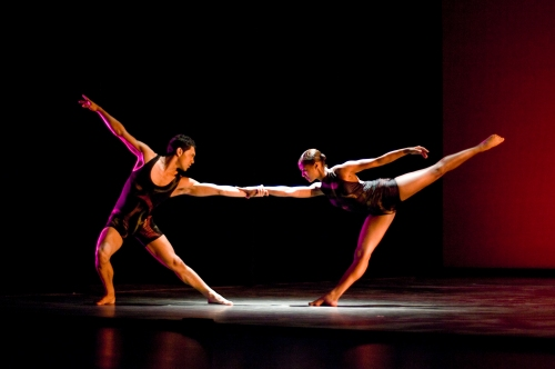 "Cesar Salinas and Meredith Schultz in ""A Ritual Dynamic."" Photo by Cheryl Mann."