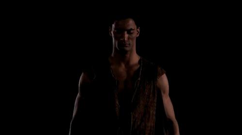 Fabrice Calmels as Othello.