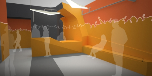 ARC Reception Area Rendering courtesy of Chicago Human Rhythm Project